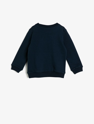 Koton Kids Baskılı Sweatshirt Lacivert